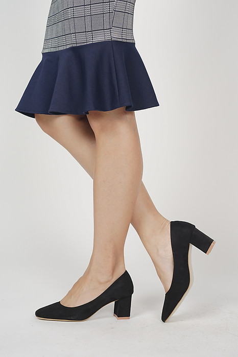 Aria Square Pumps in Black - Arriving Soon