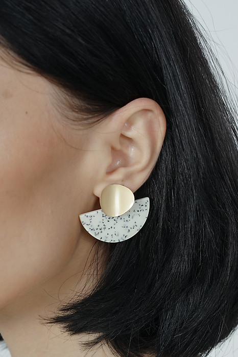 Shania Arc Earrings in White -  Arriving Soon
