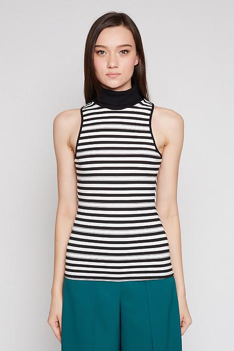 Jelina Top in Thin Stripes