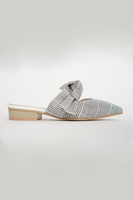 Bow-Top Mules in British Checks - Arriving Soon