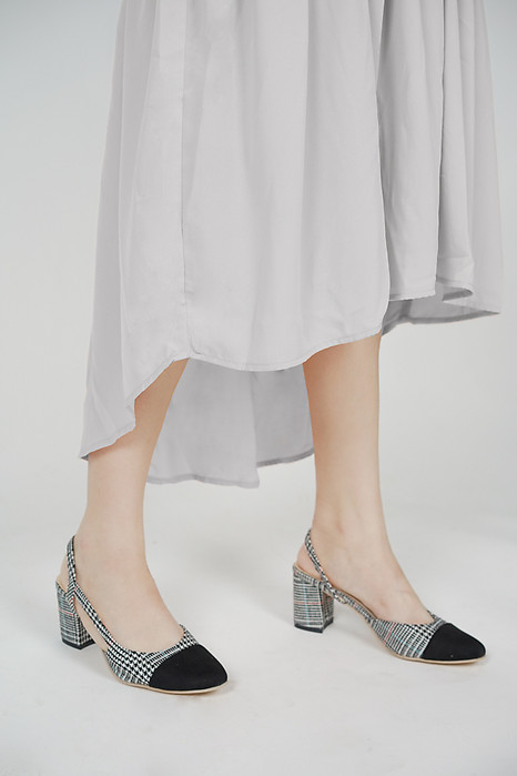 Signature Pumps in Grey Checks - Arriving Soon