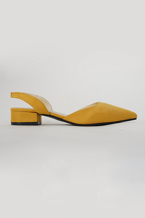 Day-off Flat Pumps in Mustard - Arriving Soon
