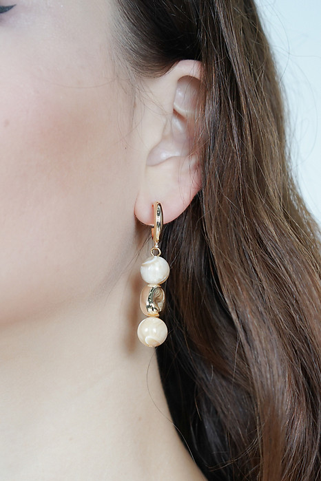 Asymmetrical Gem Earrings in Rose  - Arriving Soon