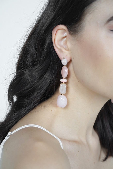 Lowena Earrings in Rose - Arriving Soon