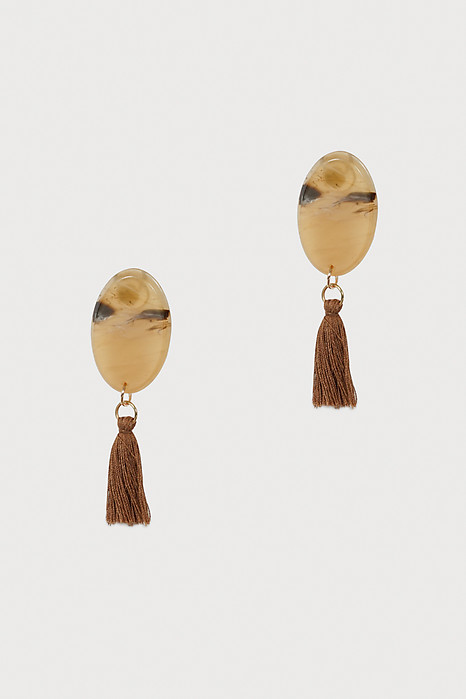 Tear Drop Tassel in Brown - Arriving Soon