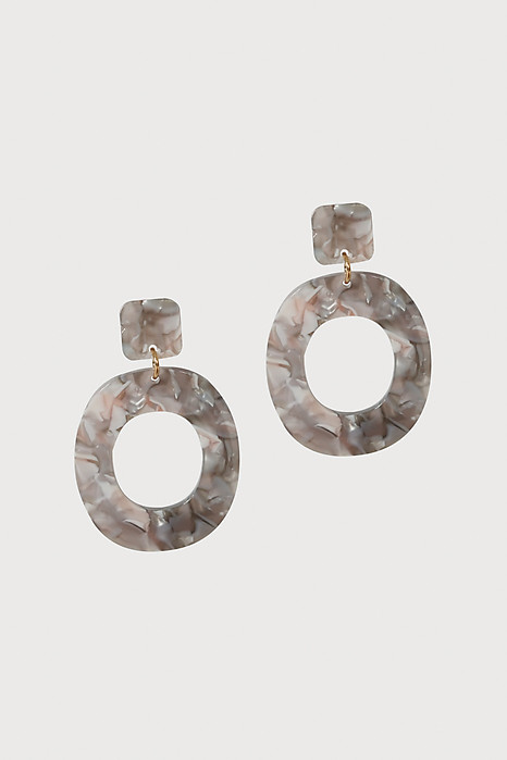 Geometric Earrings in Granite - Arriving Soon