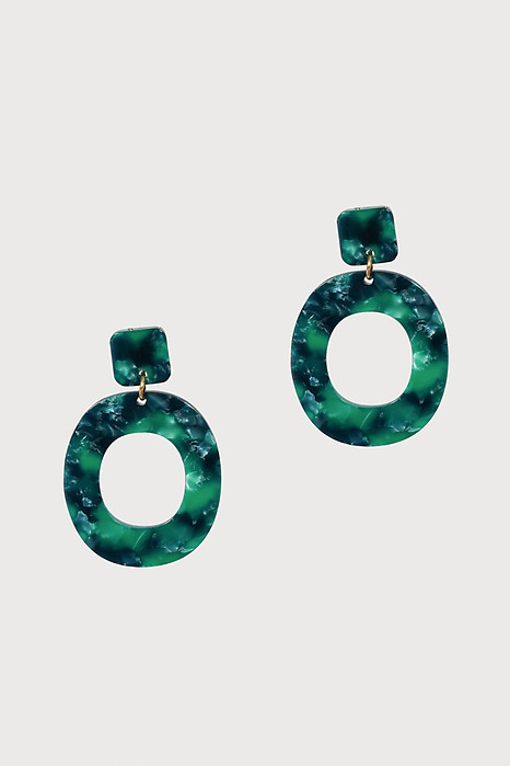Geometric Earrings in Jade - Arriving Soon