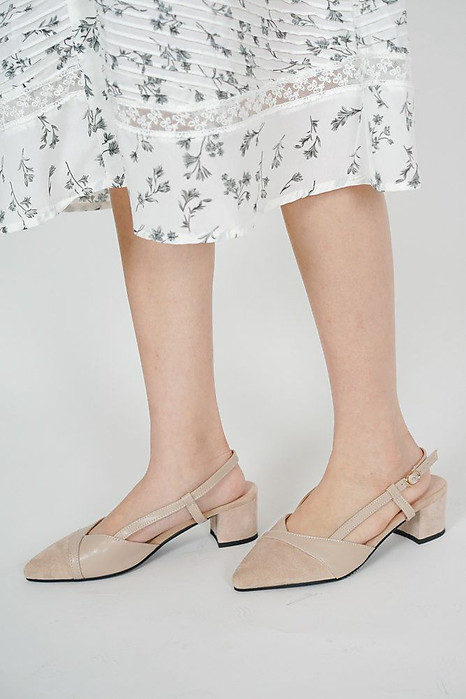 Taika Slingbacks in Beige - Arriving Soon