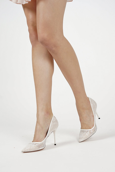 Layla Heels in White - Arriving Soon