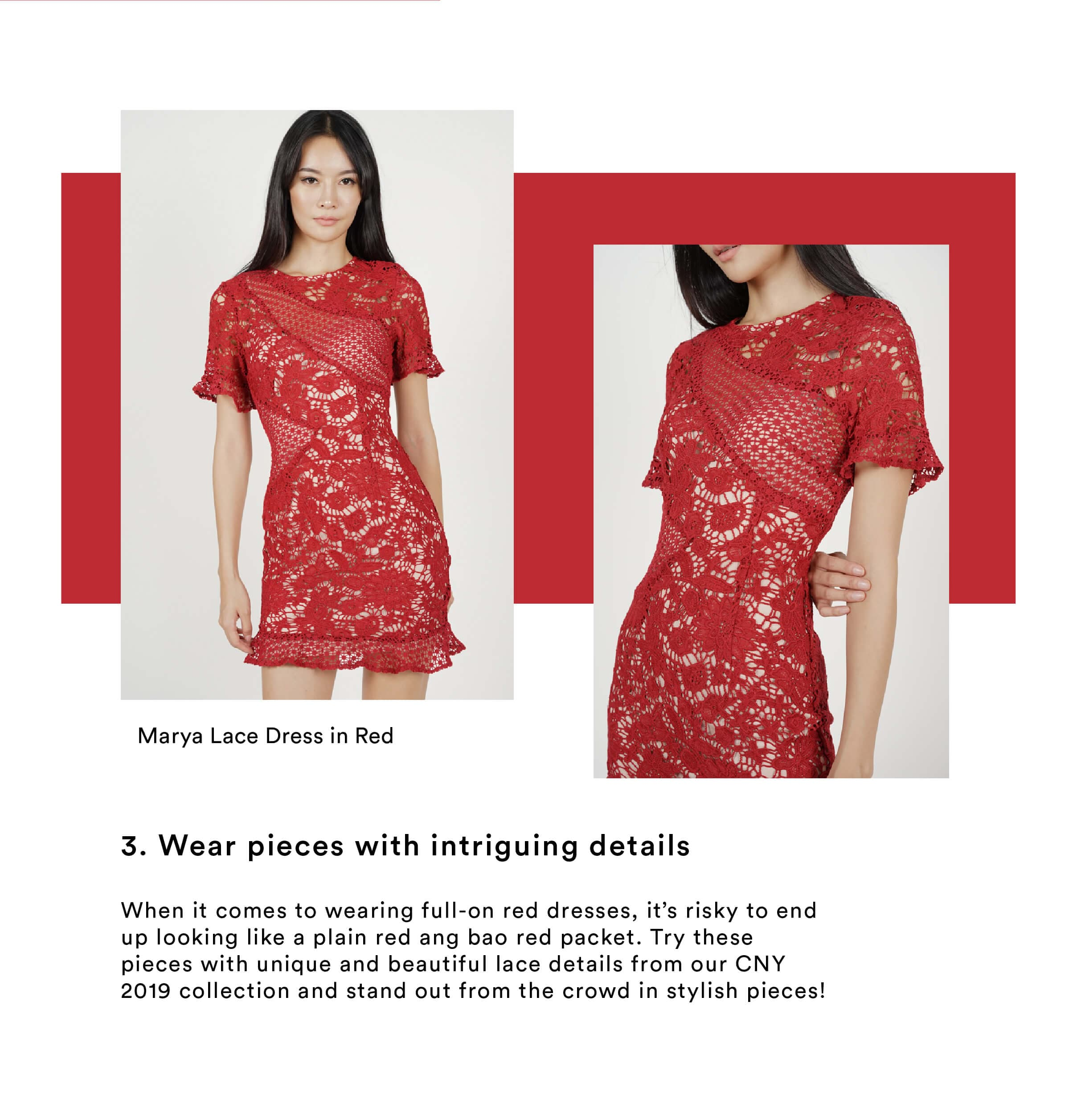 CNY Wear pieces with intriguing details