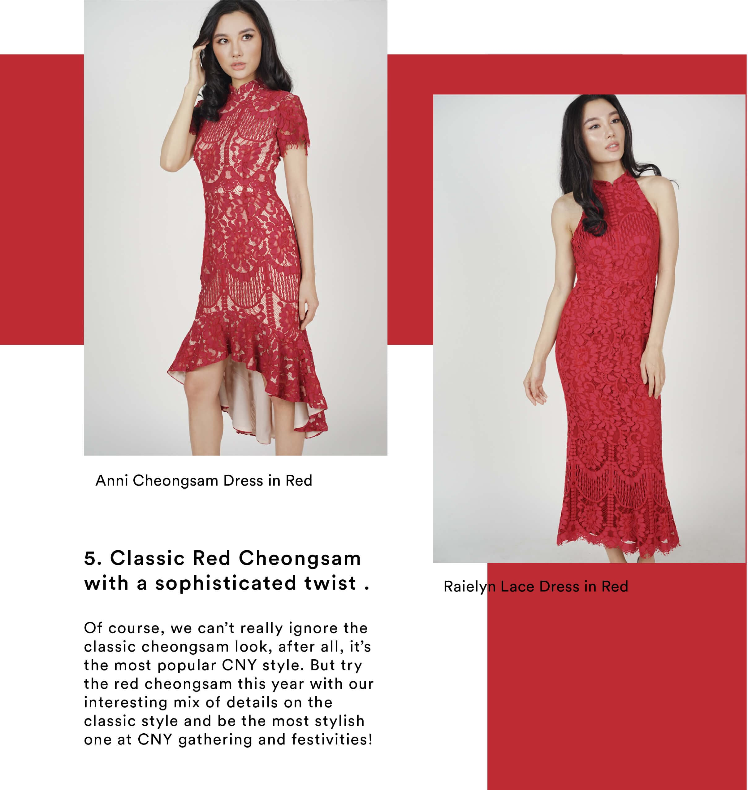MDS Classic red cheongsam with a sophisticated twist