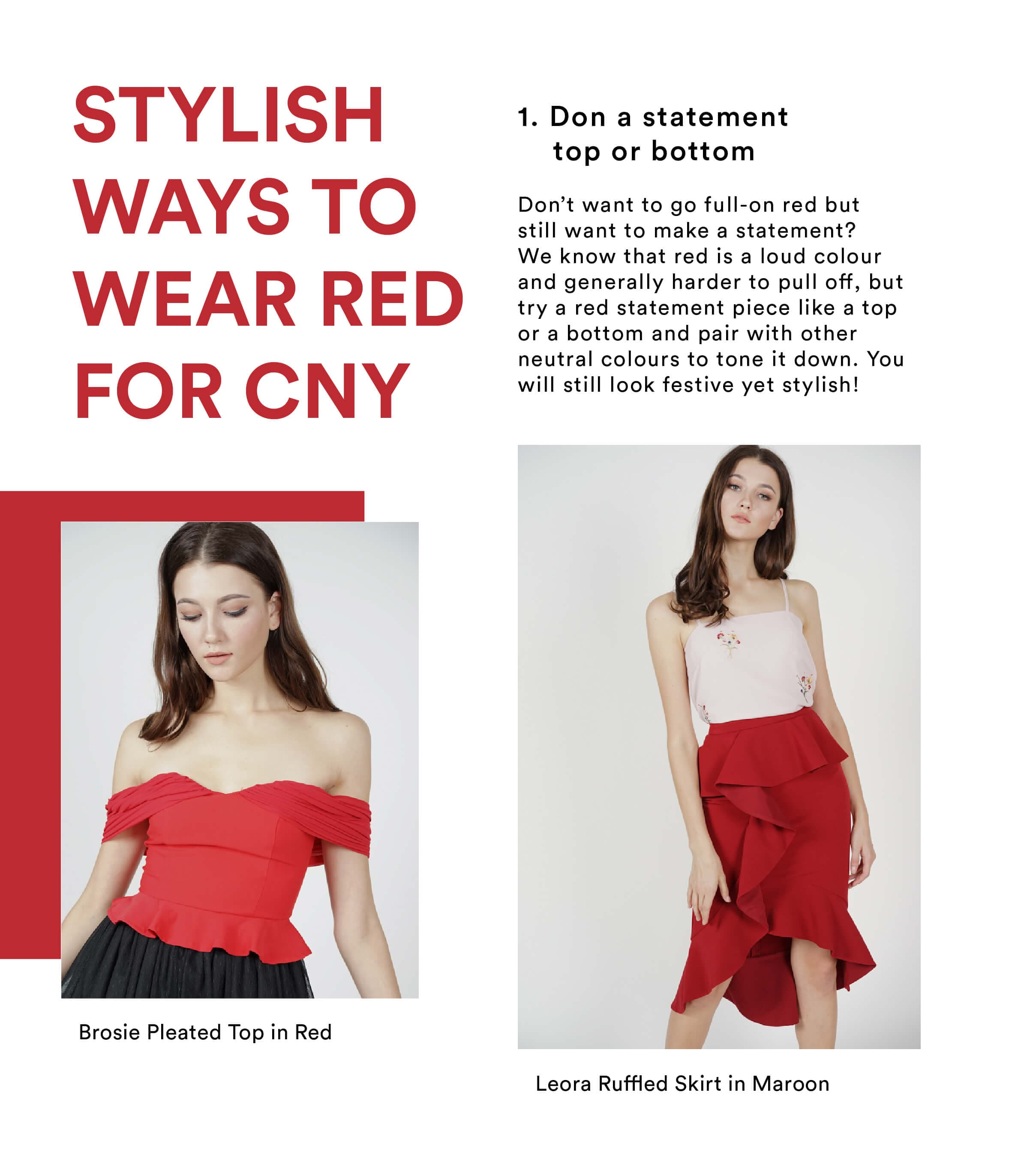 CNY Stylish Ways to Wear for CNY