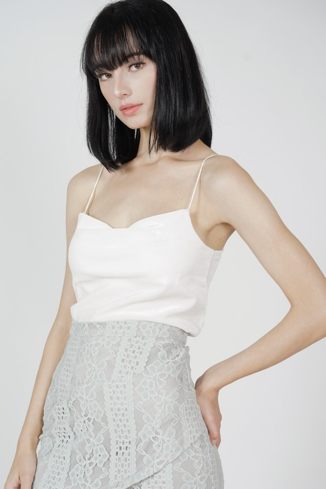 Biko Cami Top in White - Online Exclusive