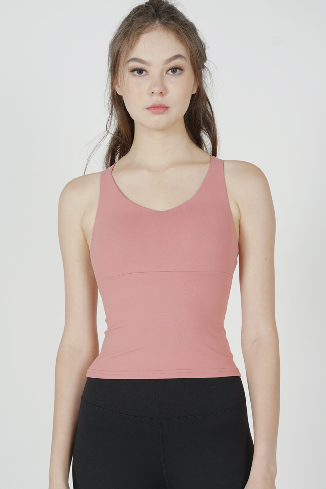 Seinia Cross-Back Top in Pink - Arriving Soon