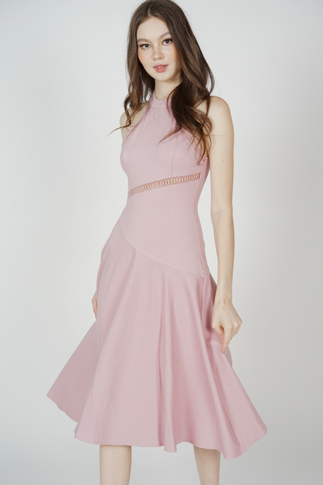 Mosley Halter Dress in Pink - Arriving Soon