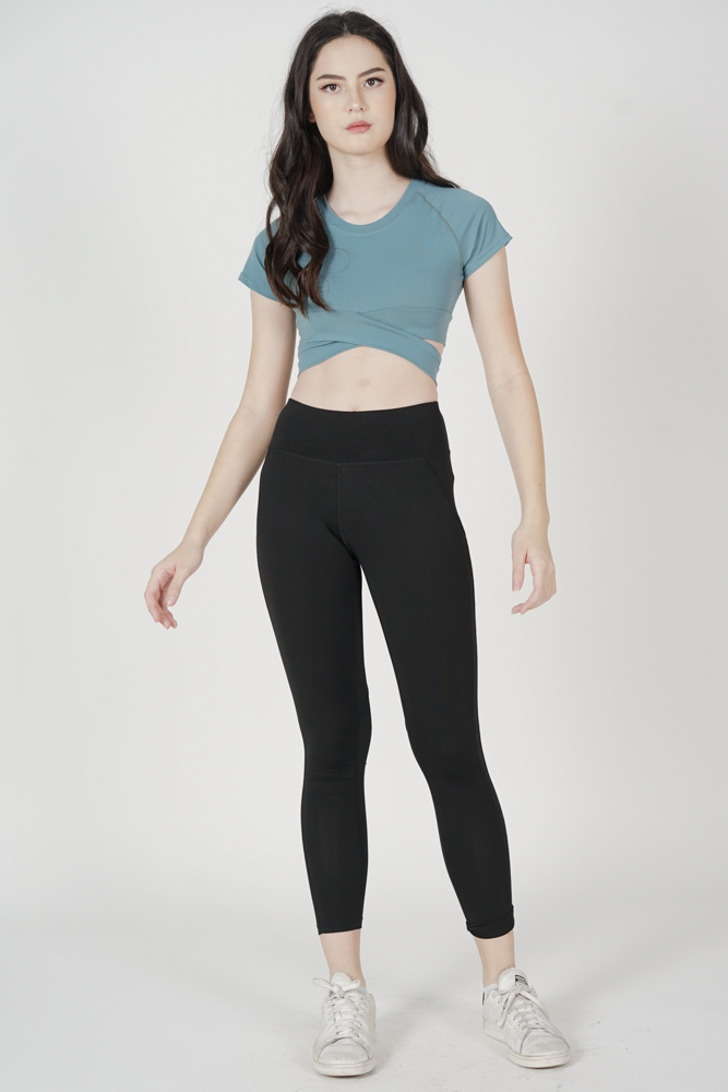 Zakena Cross Top in Turquoise - Arriving Soon