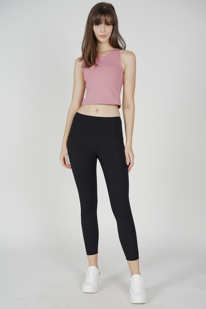 Likah Asymmetric Strappy Padded Top in Pink - Arriving Soon