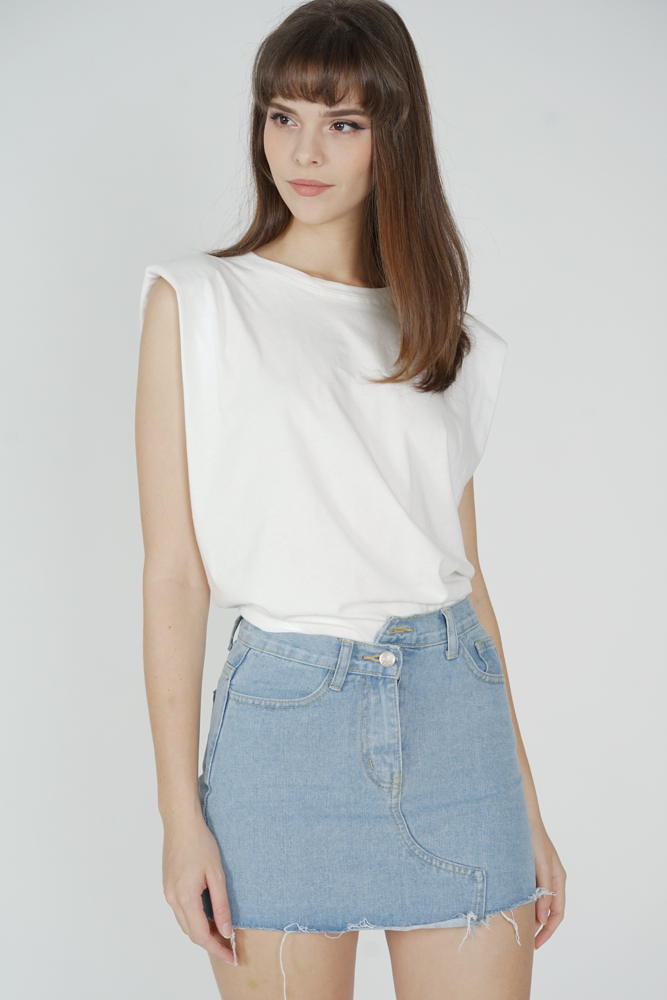 Dewna Denim Skirt in Blue - Online Exclusive