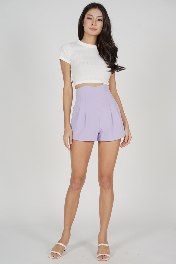 Valby High Waist Shorts in Lilac - Online Exclusive