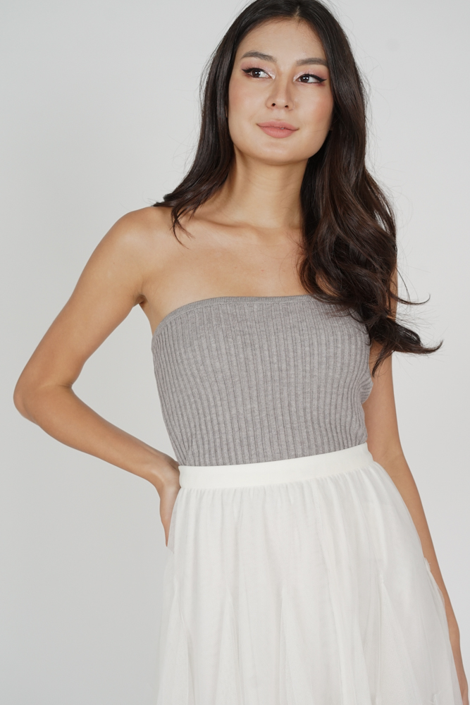 Oxlie Tube Top in Grey - Online Exclusive