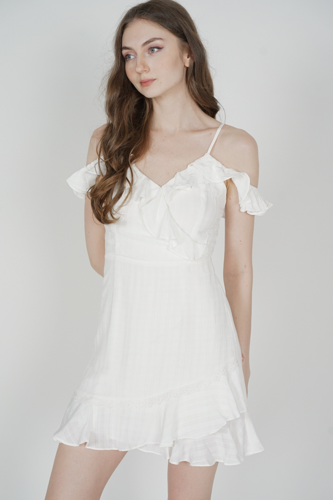 Frill Cami Dress in White