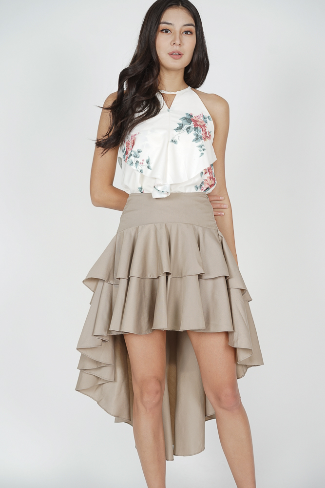 Jacobus Tiered Skirt in Khaki - Arriving Soon