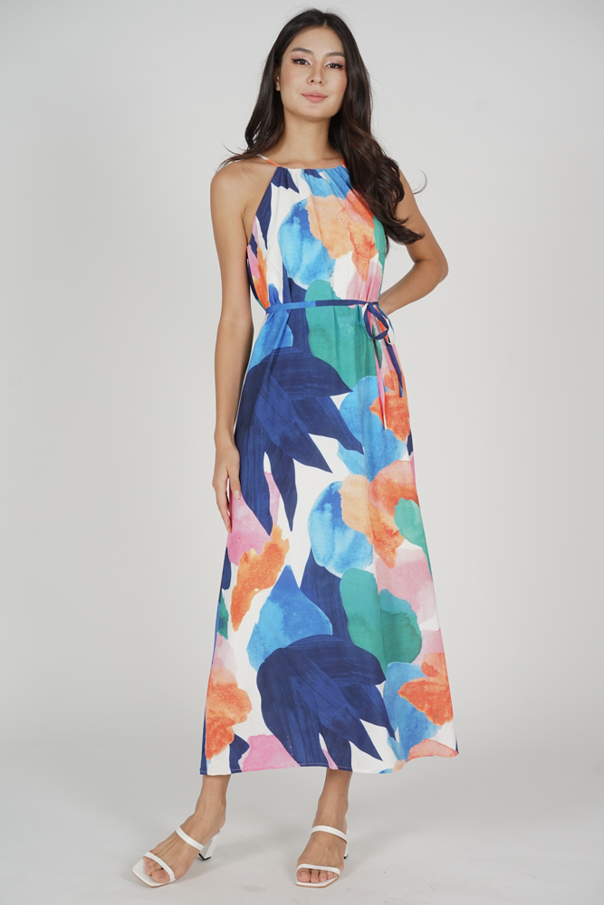 Juine Halter Maxi Dress in Multi Abstract - Arriving Soon