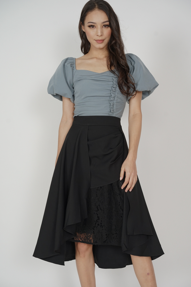 Freyja Lace Skirt in Midnight - Arriving Soon