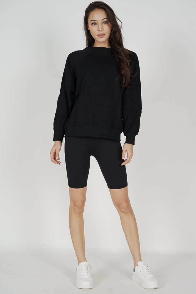 Keiki High-Rise Bicycle Shorts in Black - Arriving Soon