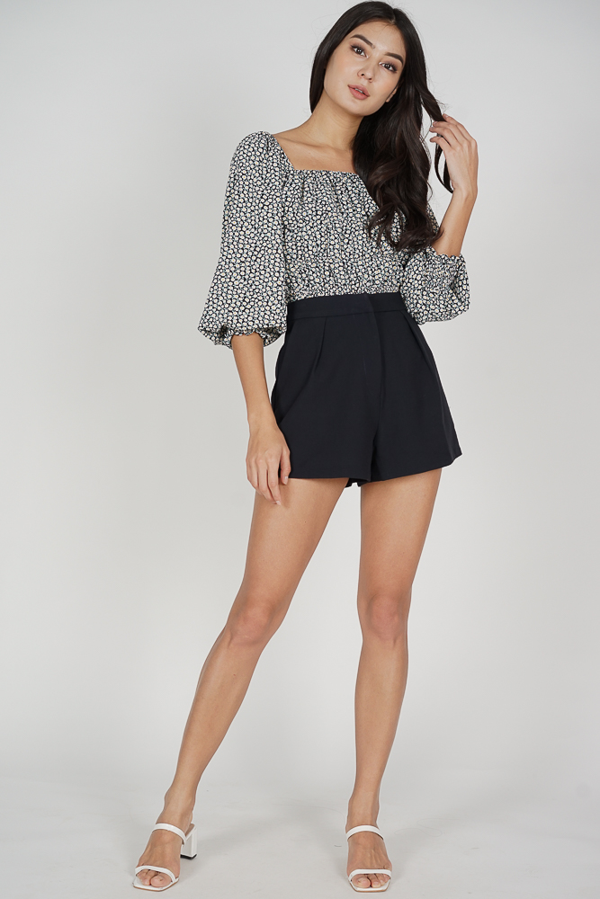 Areina Shorts in Midnight Black - Arriving Soon