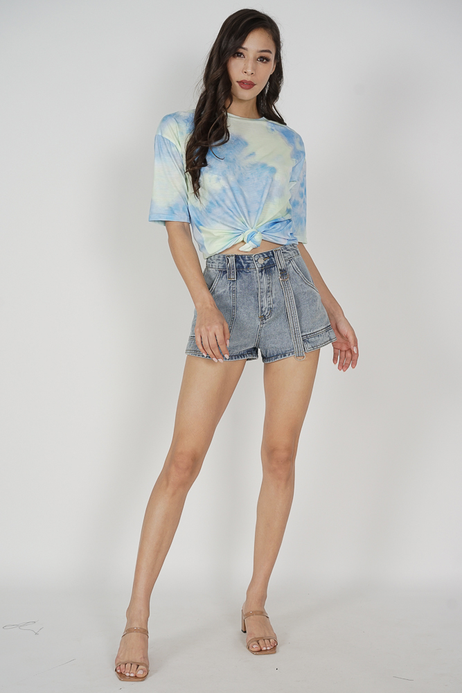 Amisa High Waist Shorts in Light Blue - Arriving Soon
