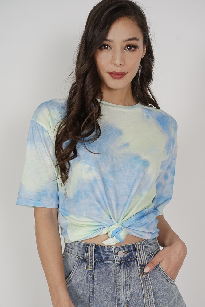 Kobie Tie Dye Shirt in Blue Green - Online Exclusive