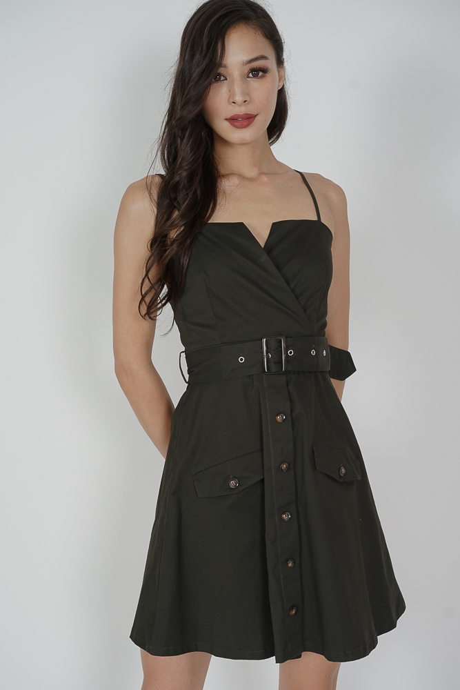 Ivrina Trench Dress in Olive - Arriving Soon