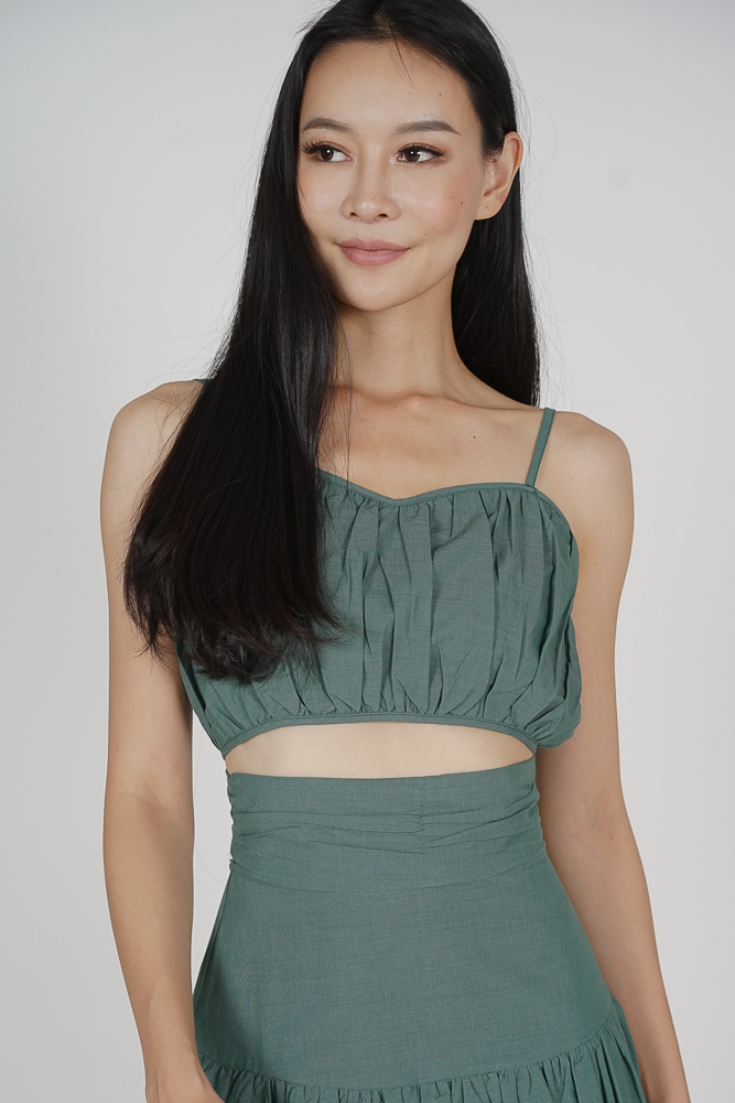 Lalin Gathered Top in Seafoam - Arriving Soon