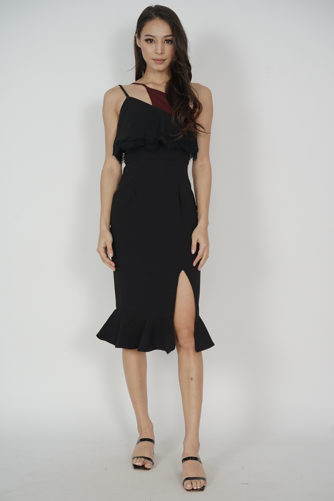 Jaysey Overlay Dress Black - Arriving Soon