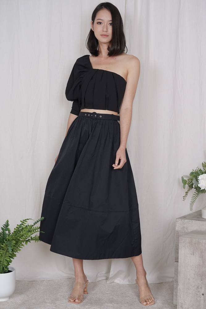 Wetzel Flared Skirt in Black - Arriving Soon