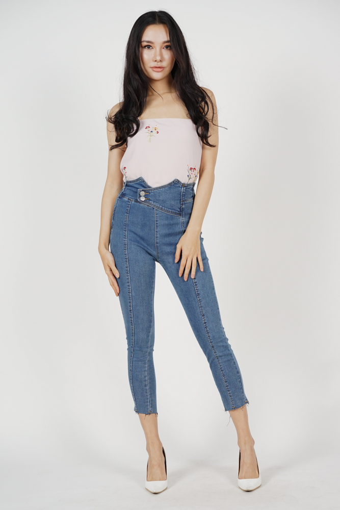 Harvyn Buttoned Jeans in Dark Denim (Online Exclusive)