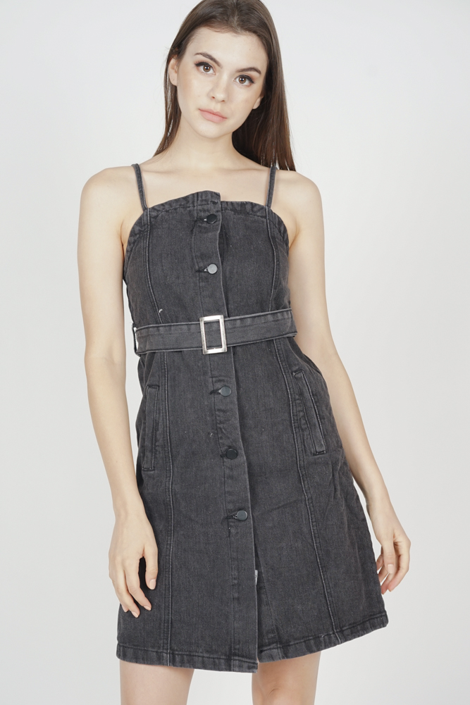 Myer Denim Dress in Black - Online Exclusive