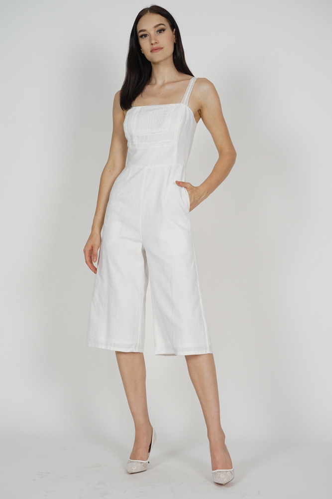 9b2bbeb3b8f MDS. Dianne Pleated Front Jumpsuit in White - Arriving Soon