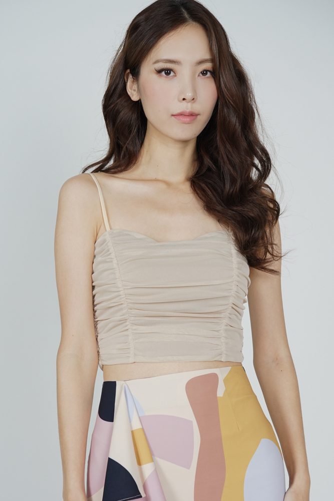 Teffa Ruched Cami Top in Nude - Arriving Soon