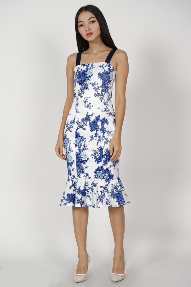 Diona Ruffled Dress in Porcelain - Arriving Soon