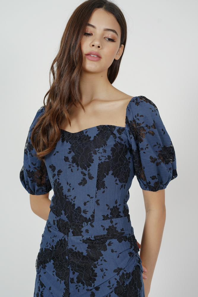 Erisea Lace Top in Midnight