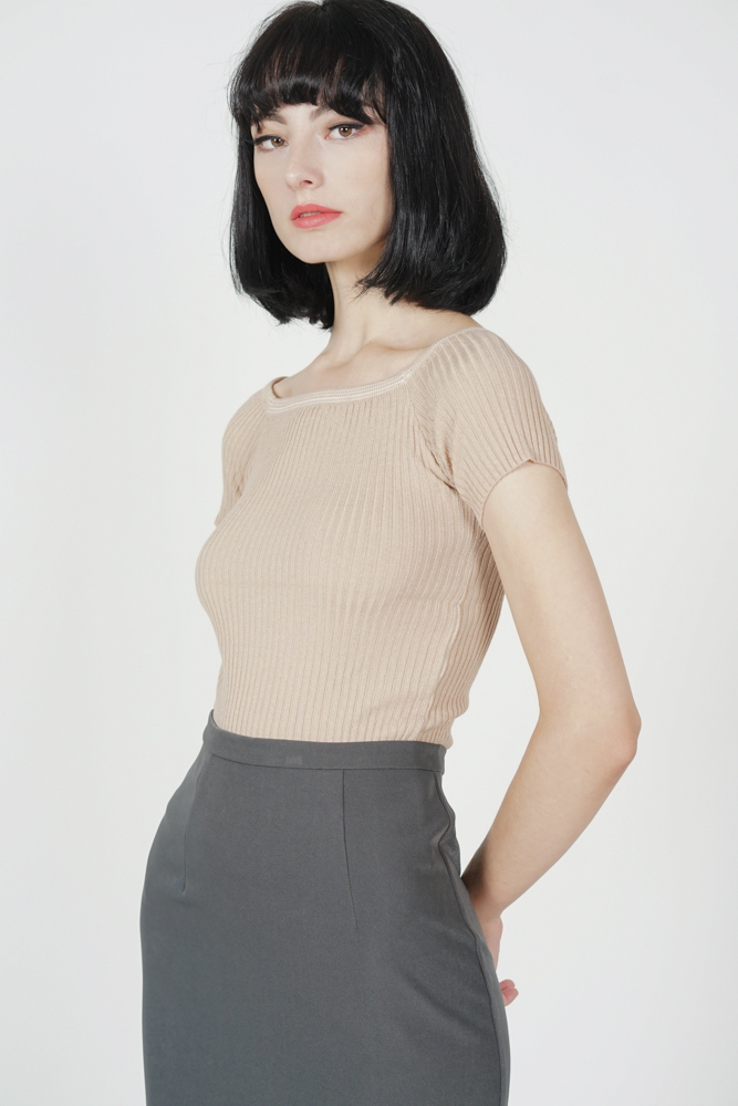 Rila Knit Top in Mocha - Online Exclusive