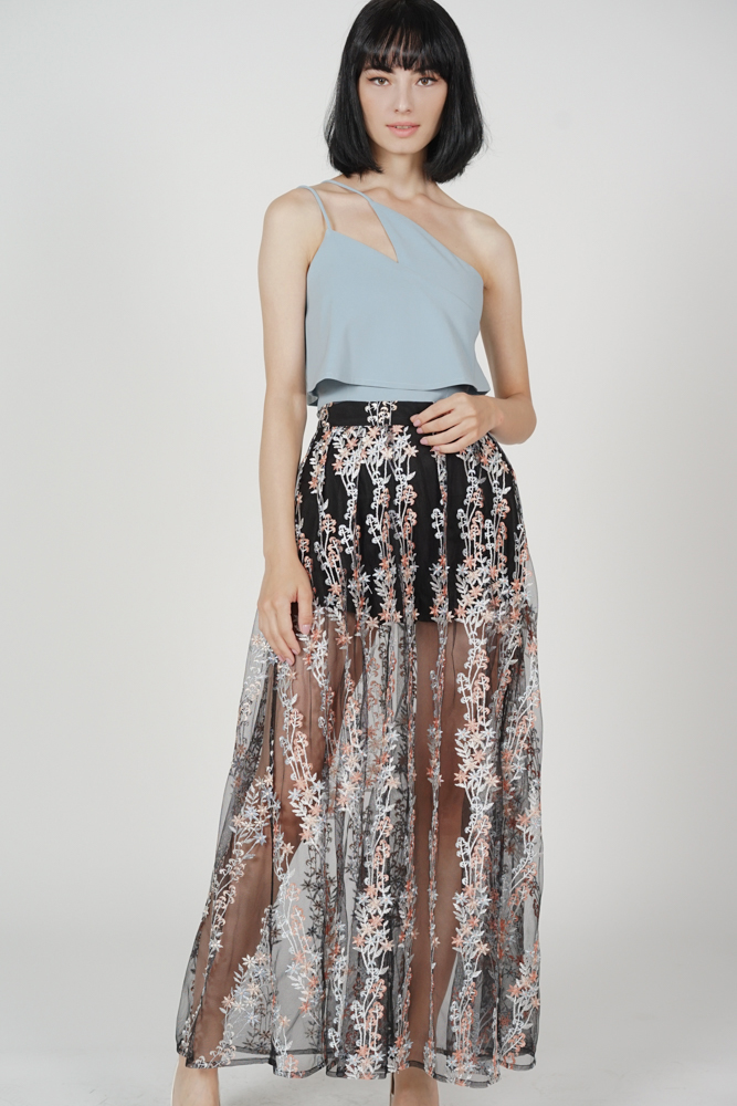 Sundance Skirt in Black Floral