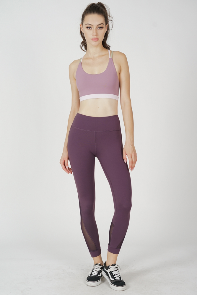 Miara Strappy Crop Top in Lilac - Arriving Soon