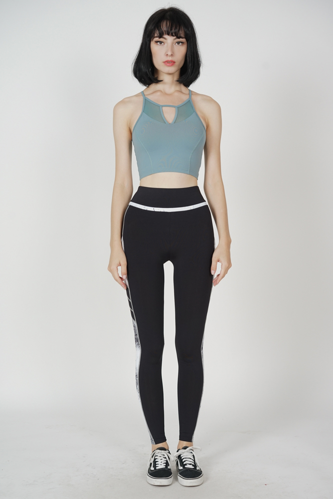 Khris Halter Padded Top in Teal - Arriving Soon