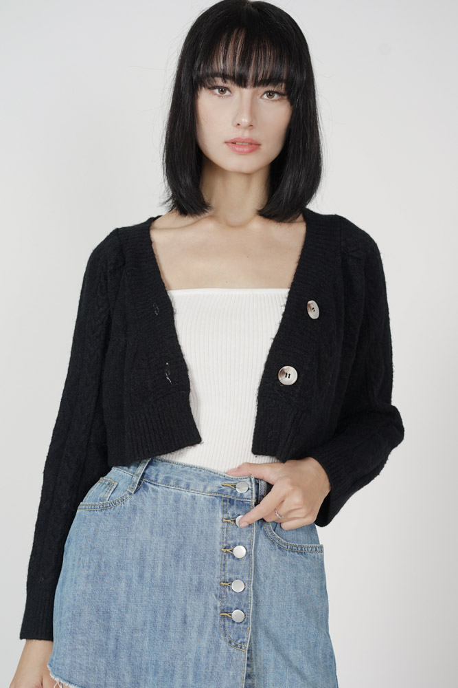 Maigel Knitted Cardigan in Black - Online Exclusive
