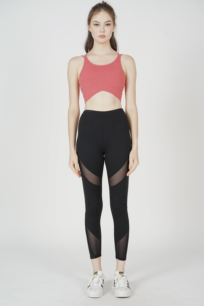 Darrah Strappy Padded Top in Coral - Arriving Soon
