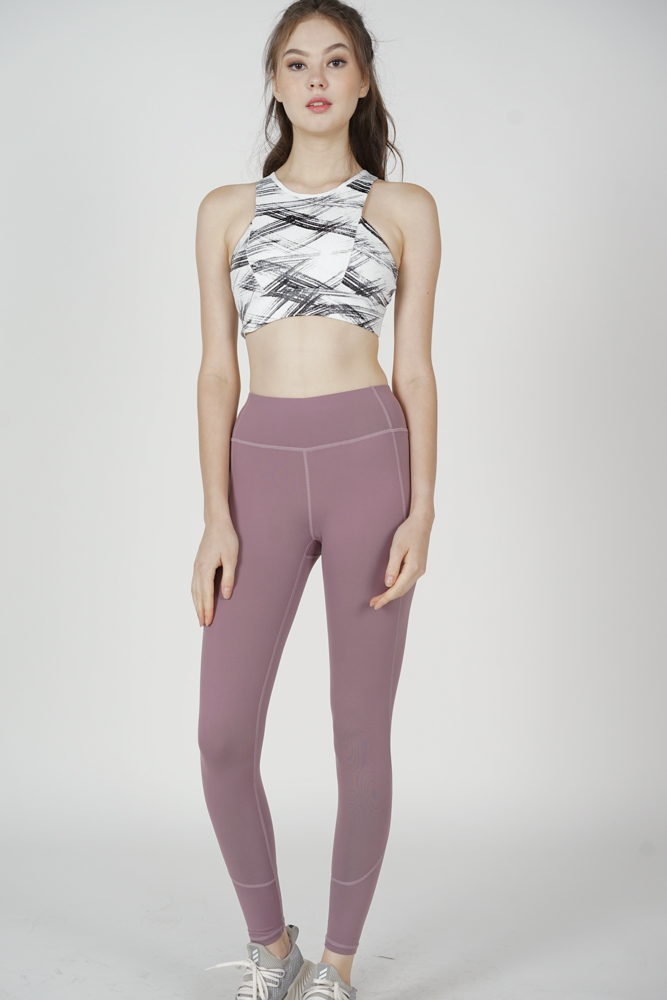 Hassie Gym Tights in Mauve - Arriving Soon