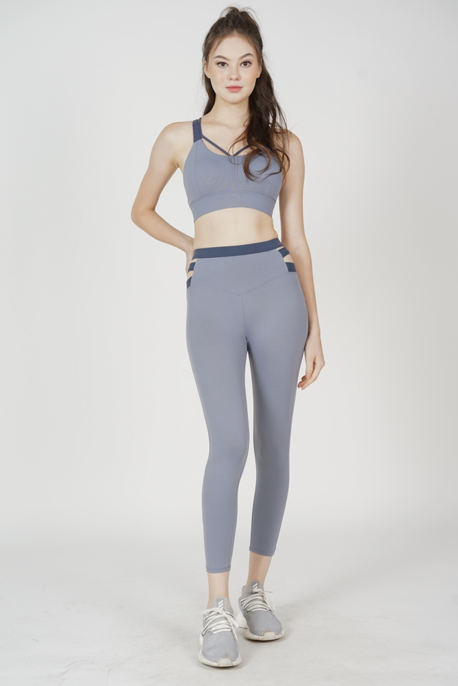 Garin Strappy Padded Top in Ash Blue - Arriving Soon